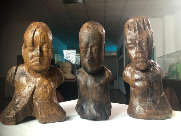 Bild 1 von 3: Die Figuren wurden von der bis dahin unbekannten Olmeken-Kultur gefertigt.