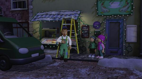 Bild 1 von 6: Mike hat noch mehr Lichter am Kabeljau Café angebracht.
