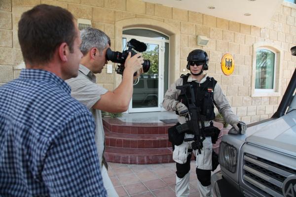 Bild 1 von 2: Personenschützer der Spezialeinheit \