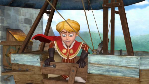 Bild 1 von 4: Prinz John hat die Flugmaschine in Besitz genommen.