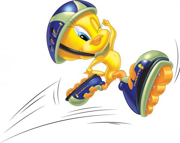 Bild 1 von 47: Der gelbe Kanarienvogel Tweety macht seinem Erzfeind Sylvester das Leben schwer.