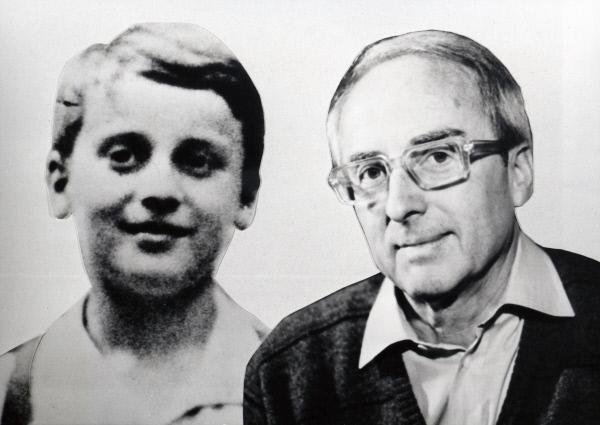 Bild 1 von 5: Georg Friedel (11, links, 62, rechts) hat 1969 seine noch lebenden Mitschüler aufgespürt und mit ihnen die Schulzeit von damals nachzuzeichnen versucht.