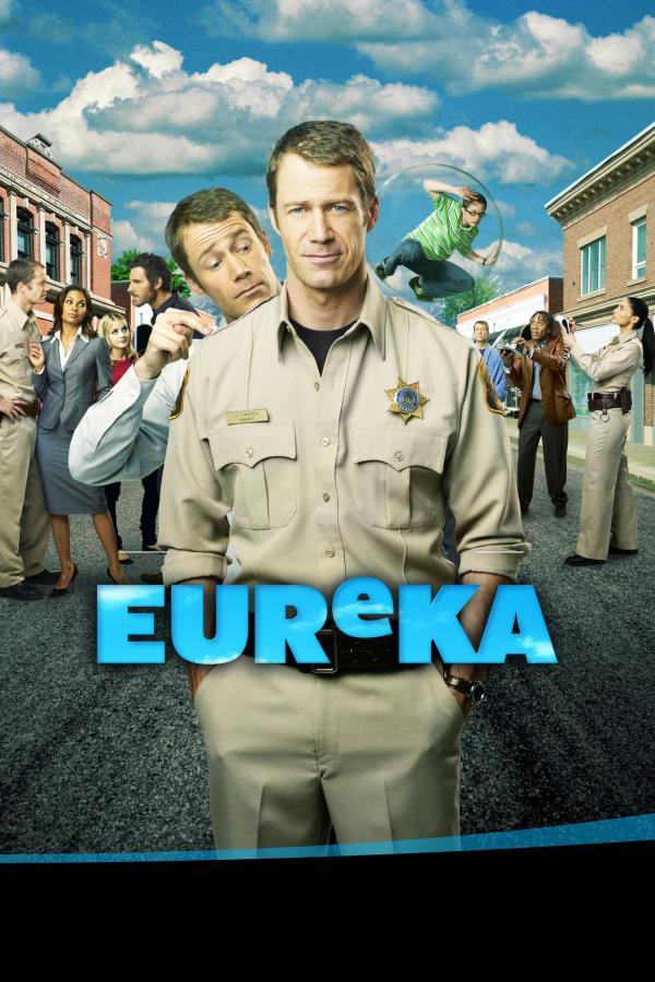 Bild 1 von 10: (2. Staffel) - Die Bewohner von Eureka machen dem neuen Sheriff Jack Carter (Colin Ferguson, M.) das Leben schwer ...
