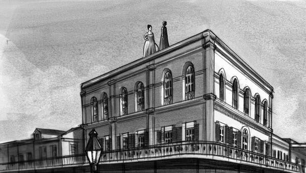 Bild 1 von 3: Delphine LaLaurie wurde aufgrund ihres sadistischen Verhaltens ihren Sklaven gegenüber erstmals 1833 vom Gesetz belangt. Sie trieb eine 12jährige Sklavin über das Dach ihrer Villa, woraufhin das Mädchen hinunterstürzte und starb, Delphine Lalaurie erhielt eine Geldstrafe