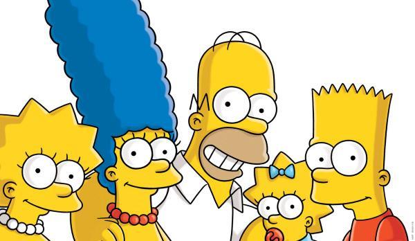 Bild 1 von 31: (26. Staffel) - Die Simpsons sind eine nicht alltägliche Familie: Maggie (2.v.r.), Marge (2.v.l.), Lisa (l.), Homer (M.) und Bart (r.) ...