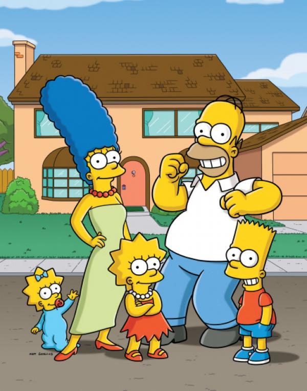 Bild 1 von 38: (28. Staffel) - Eine etwas andere Familie: Maggie (l.), Marge (2.v.l.), Homer (2.v.r.), Bart (r.) und Lisa Simpson (M.) ...