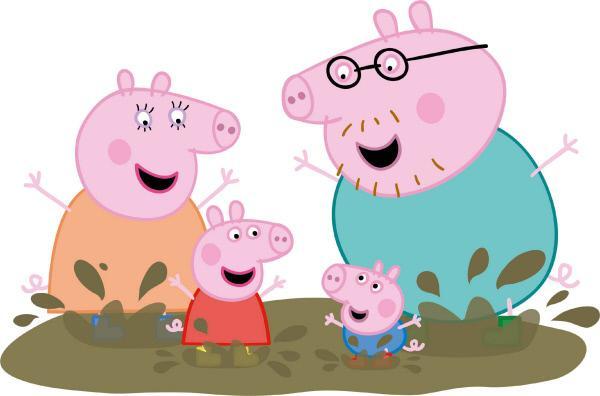 Bild 1 von 2: Peppa ist ein liebenswertes, freches kleines Schweinchen, das mit seinem Brüderchen Schorsch bei Mama Wutz und Papa Wutz wohnt. Am liebsten spielt Peppa Spiele, verkleidet sich, unternimmt Ausflüge und springt in Matschepampe herum. Ihre Abenteuer nehmen immer ein gutes Ende in laut schnaubendem Gelächter.