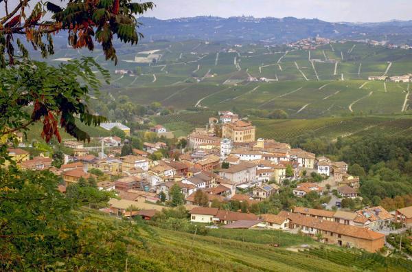 Bild 1 von 6: Blick auf das Weinbaugebiet der Langhe bei Barolo