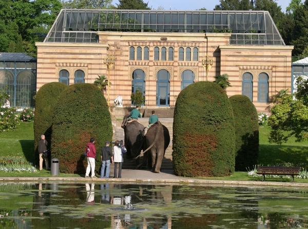 Bild 1 von 2: Das Maurische Landhaus innerhalb des Maurischen Gartens.