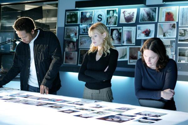 Bild 1 von 3: (v.li.) Warrick (Gary Dourdan), Catherine (Marg Helgenberger) und Sara (Jorja Fox) versuchen Licht in den mysteriösen Vermisstenfall zu bringen.