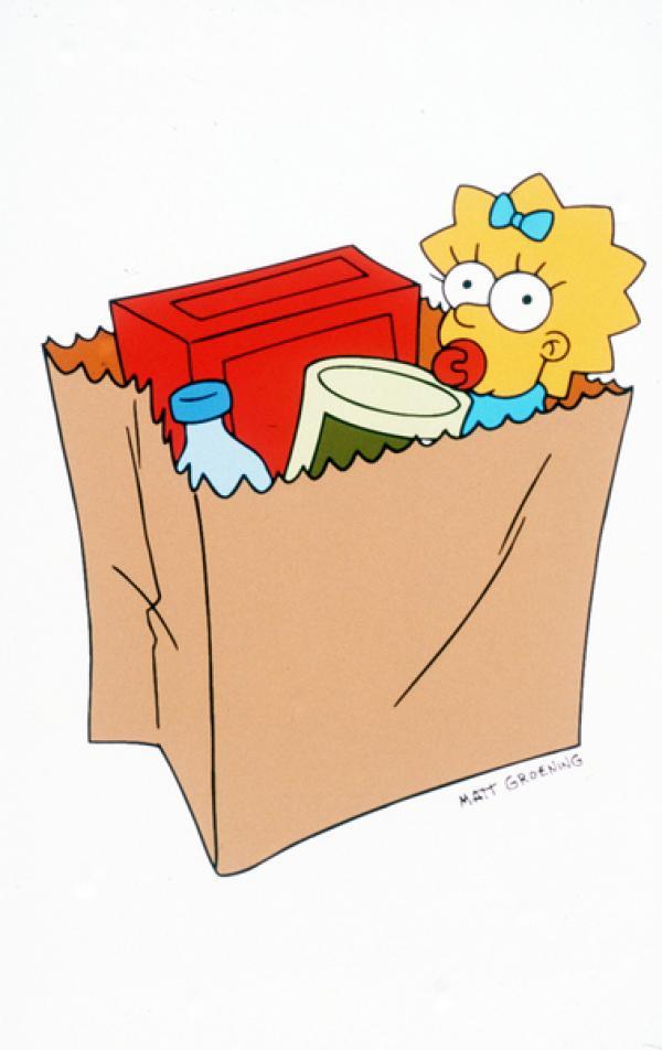 Bild 1 von 11: (9. Staffel) - Sprechen kann sie noch nicht: die kleine Maggie Simpson.
