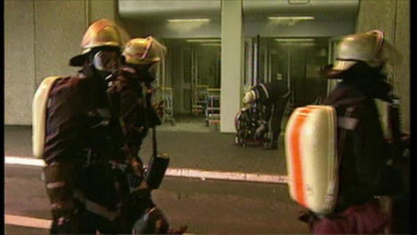 Bild 1 von 3: 1996 gibt es einen Großbrand am Düsseldorfer Flughafen.