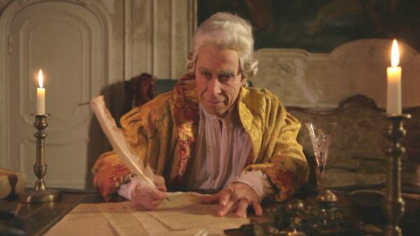Bild 1 von 1: Giacomo Casanova beim Schreiben seiner Memoiren auf Schloss Dux.