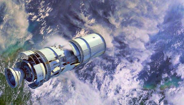 Bild 1 von 3: Beim Weltraumschrott handelt es sich beispielsweise um Abfallprodukte von Raketen und Satelliten, aber auch Zehntausende kleinerer Objekte zwischen ein und zehn Zentimetern Größe sind darunter zu finden.
