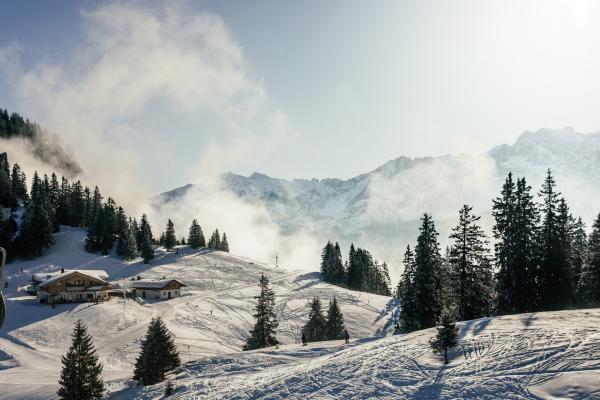 Bild 1 von 1: Skifahren in den bayerischen Alpen.