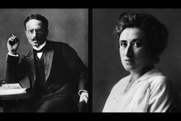 Bild 1 von 2: Rosa Luxemburg und Karl Liebknecht lehnten sich zeit ihres Lebens gegen den kapitalistischen Staat auf und setzten sich für eine sozialistische Gesellschaft ein. Sie mussten ihren Kampf beide mit dem Leben bezahlen.