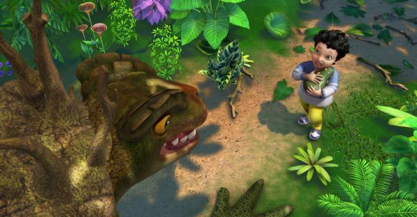 Bild 1 von 3: Die Sumpfmonstermutter fordert von Michael ihr Ei zur�ck.