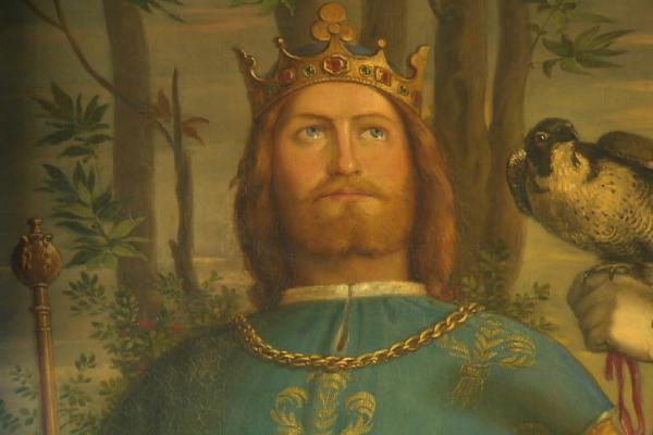 Bild 1 von 3: Romantisch verklärte Darstellung Friedrichs II. in dem Buch \