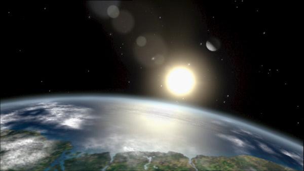 Bild 1 von 1: Wirken die Anziehungskräfte von Sonne und Mond zusammen, können auf der Erde gewaltige Springfluten entstehen.