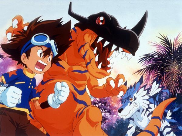 Bild 1 von 7: Zusammen sind sie stark: Taichi und Greymon.