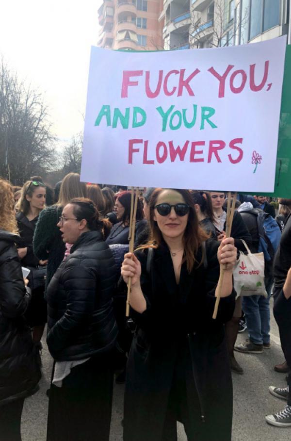 Bild 1 von 3: Studentenprotest zum Weltfrauentag