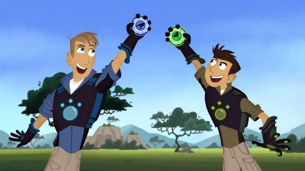 Bild 1 von 11: Die Brüder Chris (li.) und Martin Kratt haben sich ganz dem Tierschutz verschrieben. Wann immer Tiere in Not geraten, eilen die animierten Kratt-Brüder zu Hilfe.