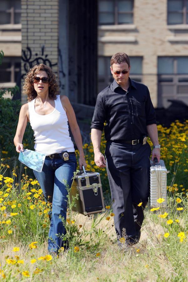 Bild 1 von 6: Die Detectives Stella Bonasera (Melina Kanakaredes) und Mac Taylor (Gary Sinise) sind auf Fotos vom Tatort angewiesen, um die Geschehnisse zu rekonstruieren.