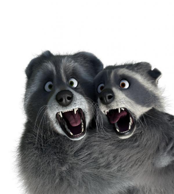 Bild 1 von 3: Die Waschbär-Brüder Mercury und Freddy lieben es, Mike auszutricksen und sich dann an seinen Sachen zu vergehen.