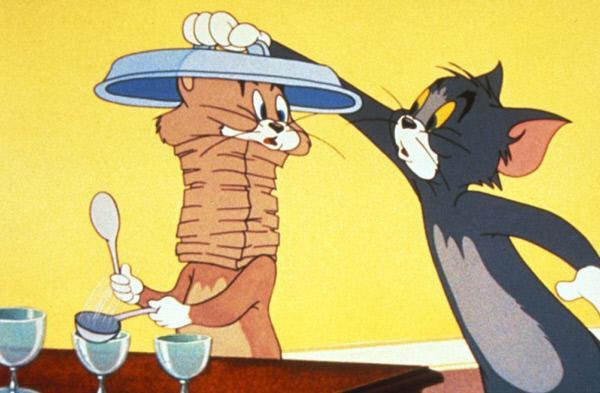 Bild 1 von 16: In dieser Serie bekriegen sich Katz und Maus, was das Zeug hält. Egal ob Mausefallen, diverse Schlaginstrumente oder Tomaten als Wurfgeschosse, Tom (re.) und Jerry gehen nie die Ideen aus, um sich gegenseitig das Leben schwer zu machen.