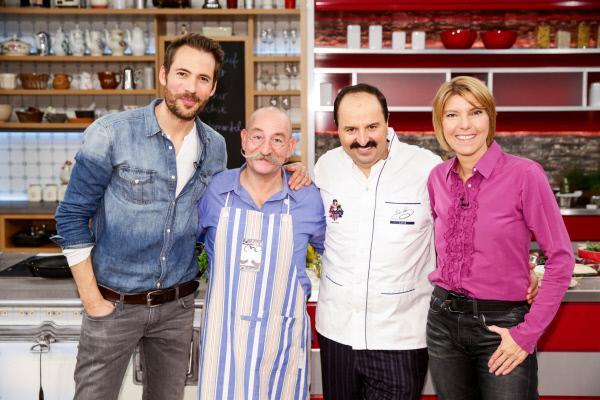 Bild 1 von 2: Alexander Mazza, Horst Lichter, Johann Lafer und Bettina Böttinger.