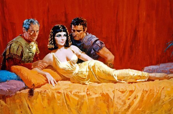 Bild 1 von 6: Die Dreharbeiten zu dem Monumentalfilm ?Cleopatra ? mit Elizabeth Taylor brachten die Produktionsfirma Twentieth Century Fox an den Rand des Ruins. Mit Kosten von 44 Millionen US-Dollar war \