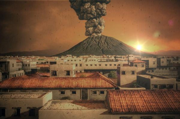 Bild 1 von 4: Der Vulkanologe Claudio Scarpati hat den zerstörerischen Vulkanausbruch von Pompeji forensisch rekonstruiert. Er ging von den geologischen Spuren aus, die der Ausbruch hinterlassen hat. Seine Forschungen liefern uns wertvolle Erkenntnisse über den Verlauf.
