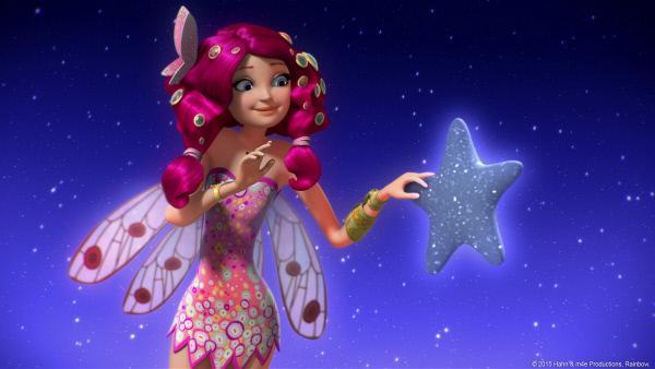 Bild 1 von 2: Das Orakel führt Mia und ihre Freunde zu den Sternen am Himmel. Dort sollen sie den nächsten Ring der Einhorn-Krone finden.