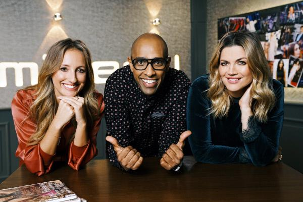 Bild 1 von 4: Das Moderatoren-Trio Laura Dahm (l.), Amiaz und Nina Bott.