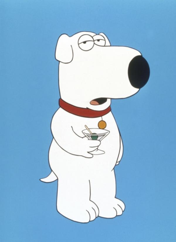 staffel brian ist ein nicht ganz normaler familienhund intellektuell sehr vornehm und mit einem alkoholproblem martinis sind seine groa e leidenschaft