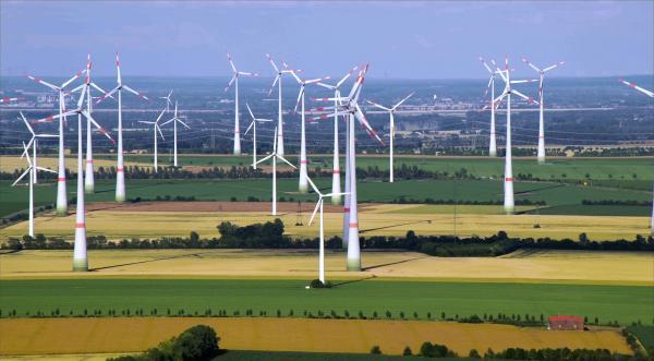 Bild 1 von 7: Windpark.