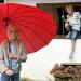 Frühling - Mit Regenschirmen fliegen