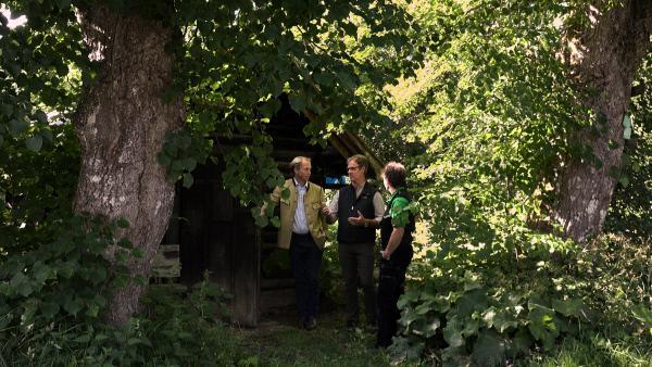 Bild 1 von 7: Besprechung beim Hexenhäusl.