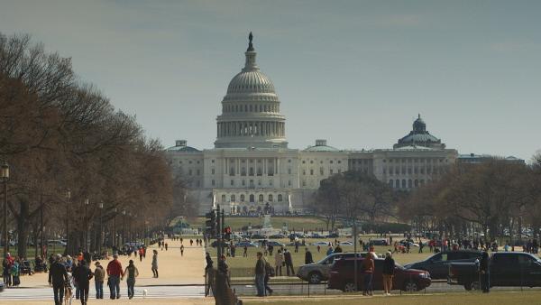 Bild 1 von 1: Der Grundstein des Kapitols in Washington wurde nach Freimaurerritus verlegt. ?berhaupt finden sich ?berall im Geb?ude Hinweise auf den Geheimbund.