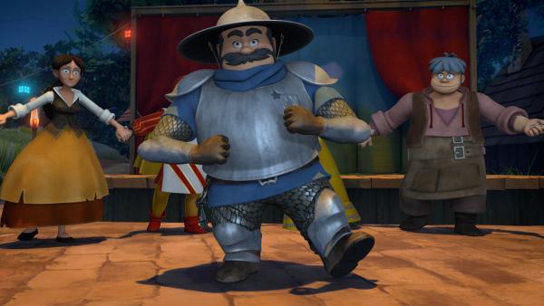 Bild 1 von 4: Sogar der Sheriff tanzt auf Prinz Johns Party.